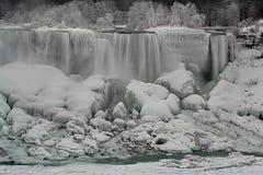 Vinterunderland på Niagara Falls Royaltyfri Fotografi