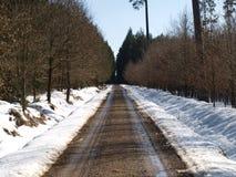 Vinterväg Arkivbilder