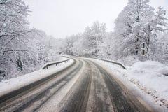 Vinterväg Royaltyfria Bilder