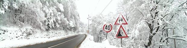 Vinterväg Royaltyfri Foto