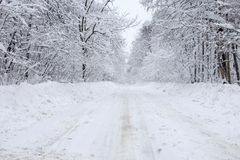 Vinterväg Arkivbild