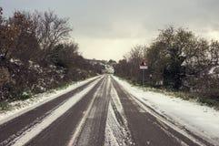 Vintervägen Arkivfoton