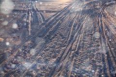 Vintervägspår Royaltyfria Bilder