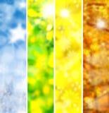 Vintervår, sommar, höst Arkivfoto