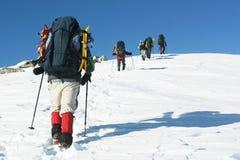 Vintervandring Arkivfoton