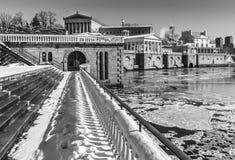 Vintervattenarbeten av Philadelphia Royaltyfria Foton