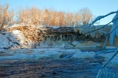 Vintervattenfall Arkivbilder