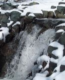 Vintervattenfall Royaltyfri Bild