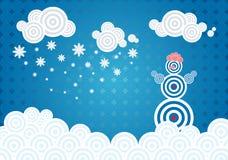 Vintervektorillustration Arkivbilder