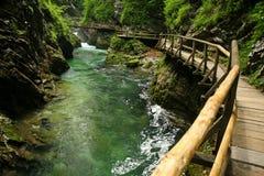 Vintgar Gorge. Triglav mountains, Slovenia Stock Photo