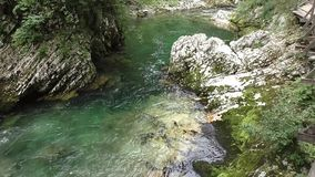 Vintgar gorge,radovna river,slovenie 144936 stock video footage