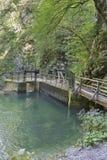 Vintgar gorge river Radovna dam lock mechanism, Slovenia. Royalty Free Stock Images
