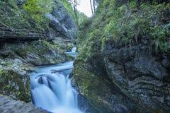 Vintgar Gorge, Slovenia. or Bled Gorge stock photo