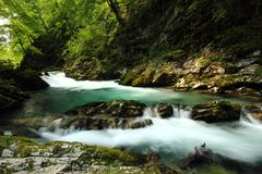 Vintgar Gorge - Slovenia Stock Photography
