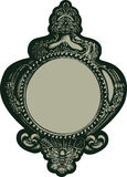 vintge emblem decorative gothic frame mirror Royalty Free Stock Photography