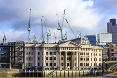 Vintners Place at Thames River - London Stock Image