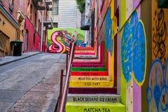 Vinton sąd Kroczy Chinatown obrazy stock