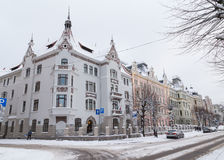 Vintrar i Riga, Lettland royaltyfri foto
