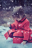 Vintrar snöar först Arkivbilder