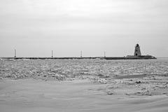 Vintriga Lake Erie Arkivbilder