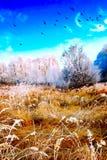 Vintrigt landskap Royaltyfria Bilder