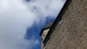 Vinvlag op de toren stock videobeelden