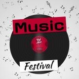 Banner for the retro music festival. Musical poster template for your design. Music elements design. vector illustration