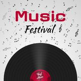 Banner for the retro music festival. Musical poster template for your design. Music elements design. Banner for the retro music festival. Musical poster vector illustration