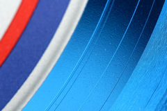 Vinyl Album Abstract. Abstract view of a blue vinyl 33-1/3 LP record album Stock Images