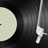 Vinyl as retro music background Royalty Free Stock Image