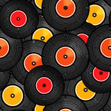 Vinyl audio discs Stock Photo