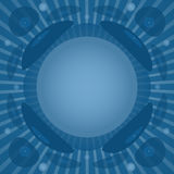 Vinyl background in blue colors Stock Images