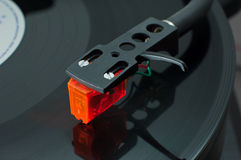 Vinyl cartridge side view Stock Photo