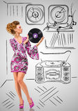 Vinyl collection. Stock Image