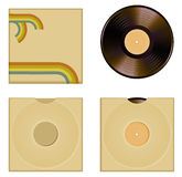 Vinyl cover set Stock Image