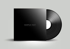 Vinyl cover on white wall background, Vector Stock Photography