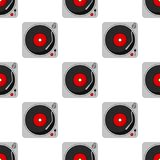 Vinyl Device Recorder Seamless Pattern Stock Photography