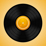 Vinyl disc. Vector illustration of realistic vinyl disc Royalty Free Stock Photo