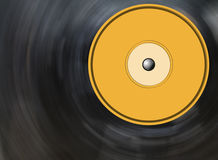 Vinyl disc background. Blurry with motion Royalty Free Stock Photography