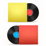 Vinyl disc and cover Royalty Free Stock Image