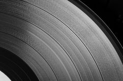 Vinyl disc (grayscale) Stock Photography