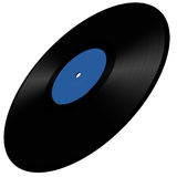 Vinyl disc illustration Royalty Free Stock Image
