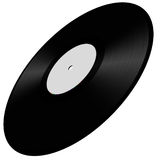 Vinyl disc illustration. White label vinyl disc illustration Stock Photography