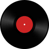 Vinyl disc illustration. Red colored vinyl disc illustration Royalty Free Stock Images