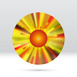 Vinyl disc 12 inch LP record with colorful grooves, shiny tracks Royalty Free Stock Photography