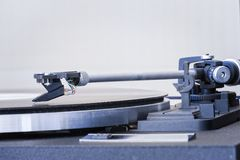 Vinyl disc player Concept vintage sound royalty free stock images