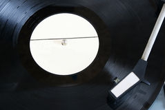Vinyl disc on player phonograph record Royalty Free Stock Photography