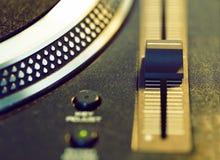 Vinyl disc on retro turntable Stock Photography