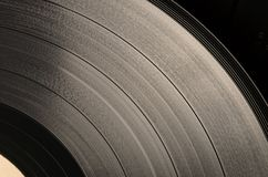 Vinyl disc (sepia) Royalty Free Stock Photos