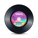 Vinyl Disc With Shiny Grooves. Old Retro Records. Isolated Vector Illustration. Vinyl Disc With Shiny Grooves. Old Retro Records. Isolated Vector Royalty Free Stock Photography